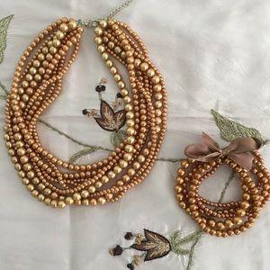 Jewelry - Faux Pearl Choker bracelet set.